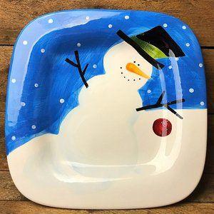 Snowman Sakura Cherry - Square Plate